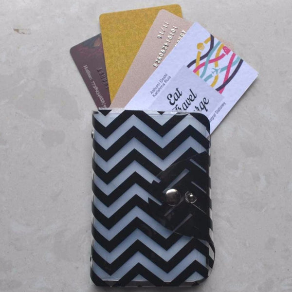 Card Holder - Black Chevron-Fashion-PropShop24.com