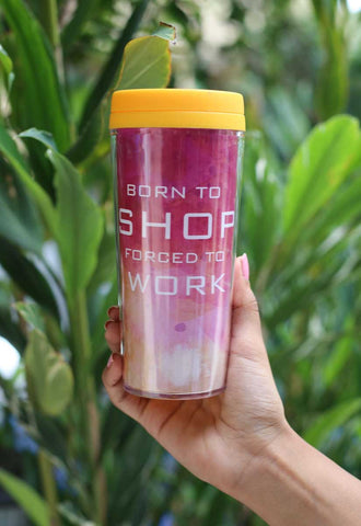 Travel Mug - Born to Shop - propshop-24
