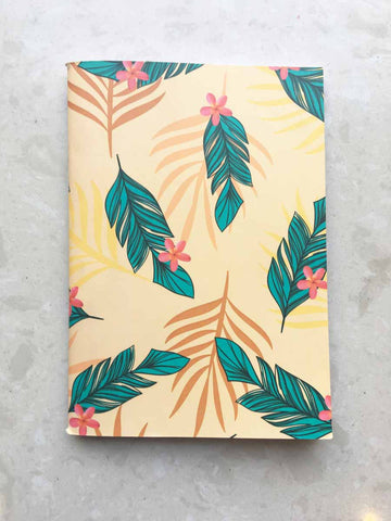 Yellow Tropical- Binded Notebook-Stationery-PropShop24.com