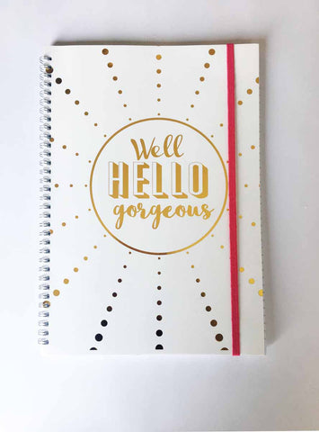 Notebook - Well Hello Gorgeous (A4)-Stationery-PropShop24.com