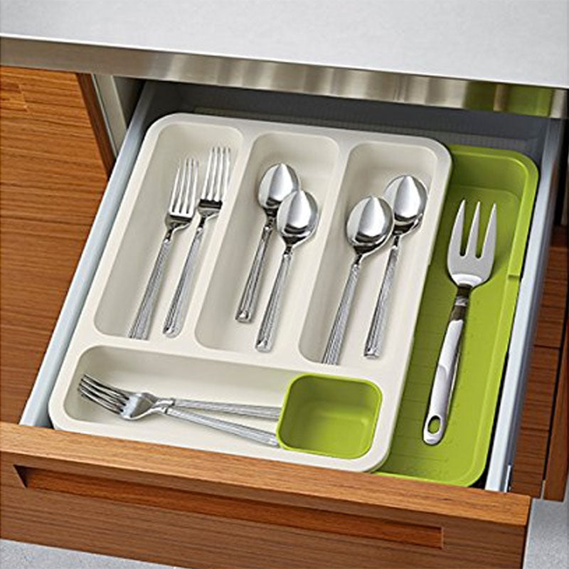 Expandable Plastic Drawer Organizer - Cutlery Tray-DINING + KITCHEN-PropShop24.com
