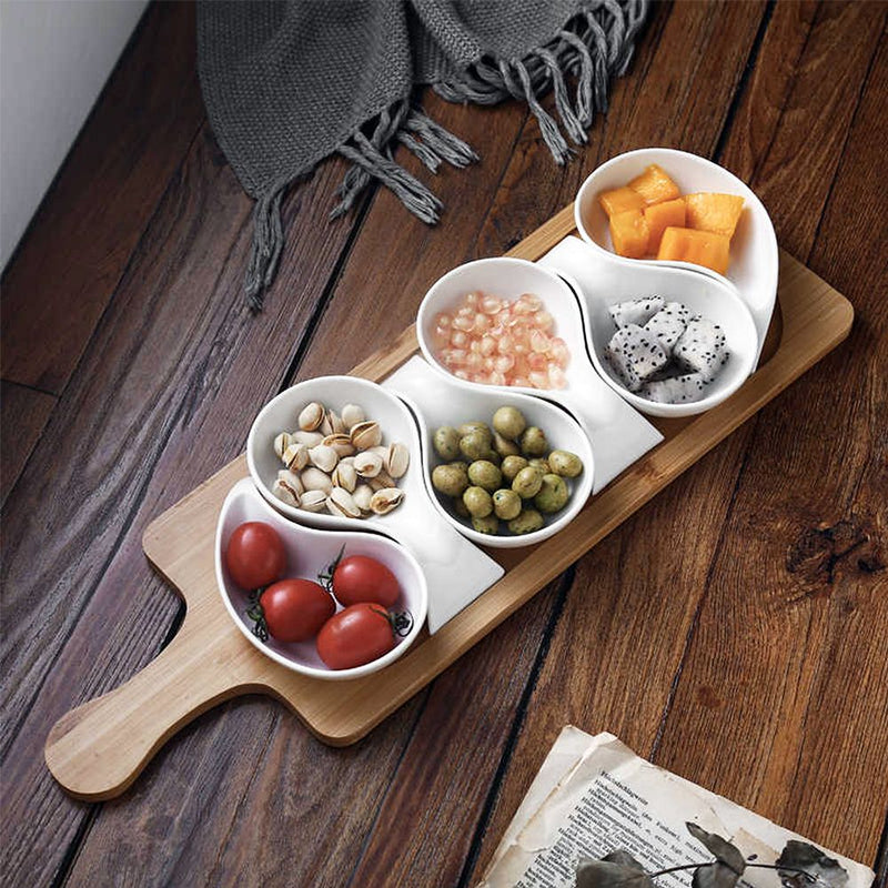 Splendour Serving Platter On Wooden Tray-DINING + KITCHEN-PropShop24.com