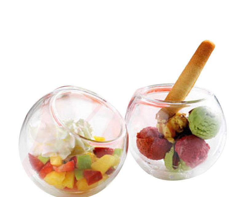 Double Wall Dessert And Starters Bowls - 120ml - Set Of 4-DINING + KITCHEN-PropShop24.com