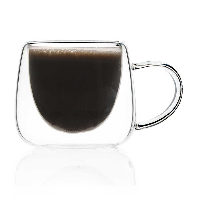 Double Walled Aura Cappuccino Mug - 130ml - Set Of 4-DINING + KITCHEN-PropShop24.com