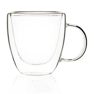 Double Walled Glass Tea Mugs - 150ml - Set Of 4-DINING + KITCHEN-PropShop24.com