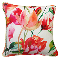 Cushion Cover - floral - white-Home-PropShop24.com