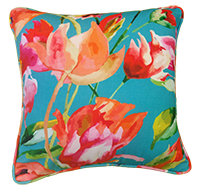 Cushion Cover - Floral - Blue Water-HOME ACCESSORIES-PropShop24.com