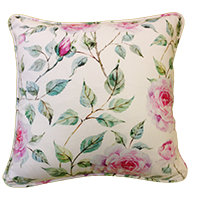 Cushion Cover - Floral - Soft White-HOME ACCESSORIES-PropShop24.com