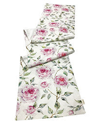 Table Runner - Floral - White And Pink Bloom-DINING + KITCHEN-PropShop24.com