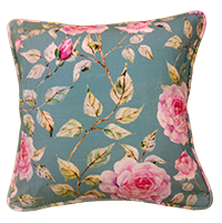 Cushion Cover - Floral - Vintage Blue-HOME ACCESSORIES-PropShop24.com