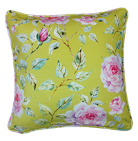Cushion Cover - floral - mint green-Home-PropShop24.com