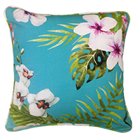 Cushion Cover - floral - lakey blue-Home-PropShop24.com