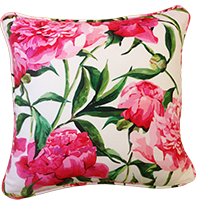 Cushion Cover - floral - misty white-PropShop24.com