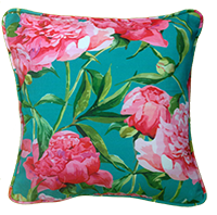 Cushion Cover - Floral - Pink And Blue Bloom-HOME ACCESSORIES-PropShop24.com