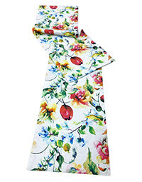 Table Runner - Floral - Vintage White-DINING + KITCHEN-PropShop24.com