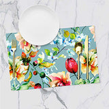 Placemats - Floral - Victorian Blue - Set Of 6-Home-PropShop24.com