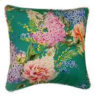 Cushion Cover - floral - sea blue bloom-Home-PropShop24.com