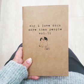 Notebook - Love Dogs More Than People-STATIONERY-PropShop24.com