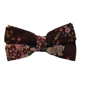 Floral Bow Tie - Brown-FASHION-PropShop24.com