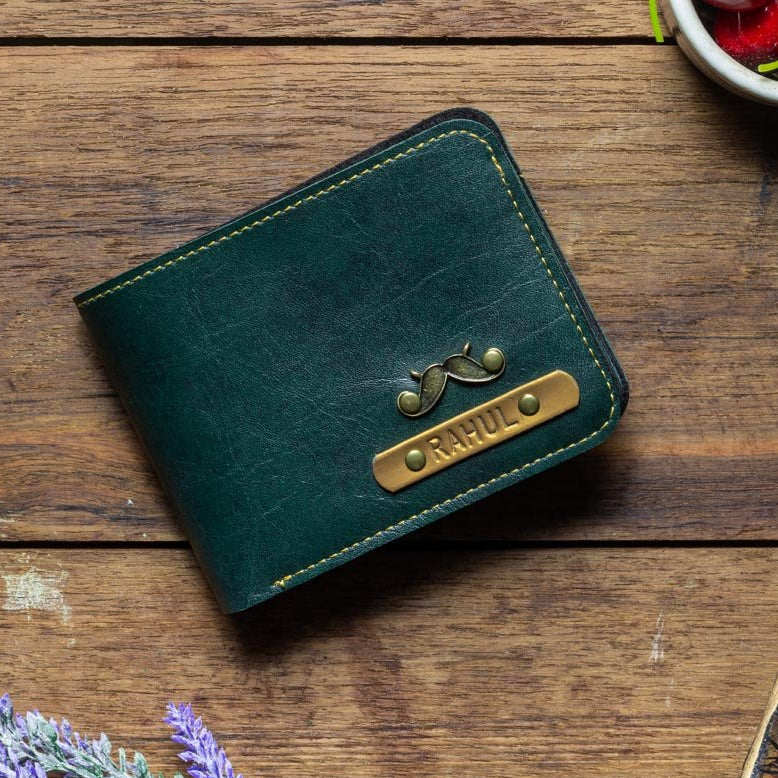 Personalized - Mens Wallet - Forest Green - C.O.D Not Available-MEN-PropShop24.com
