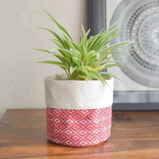 Red Woven Basket-HOME ACCESSORIES-PropShop24.com