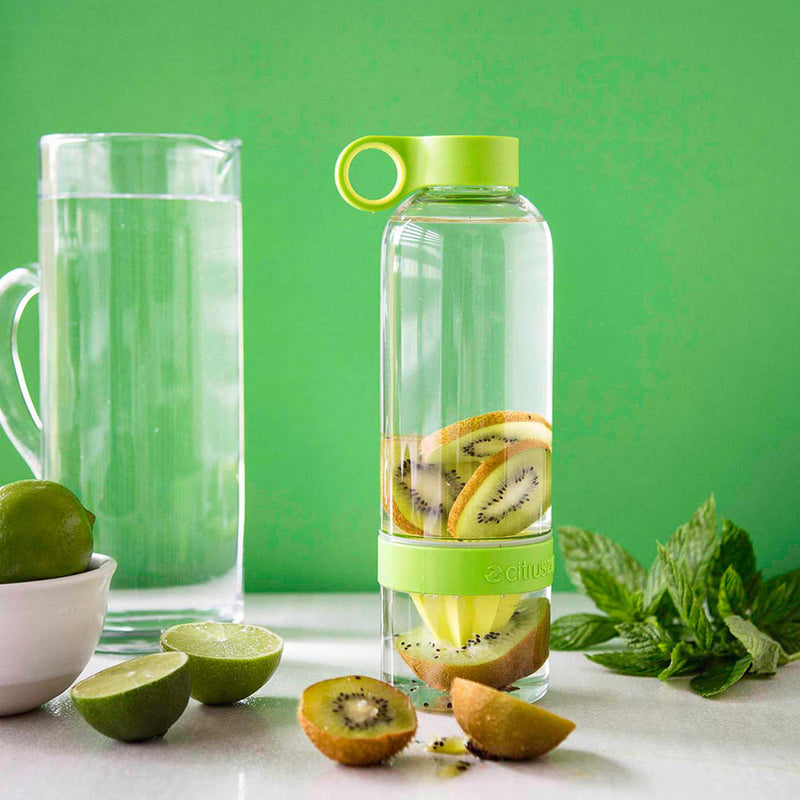 Fruit Infused Plastic Water Bottle - Green-DINING + KITCHEN-PropShop24.com