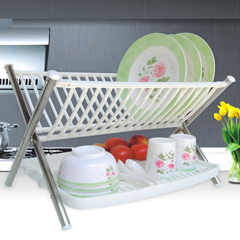 FOLDING KITCHEN RACK - WHITE-PropShop24.com