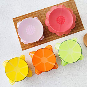 Reusable Silicone Food Wrap - Fruit Shape - Set of 4-HOME-PropShop24.com
