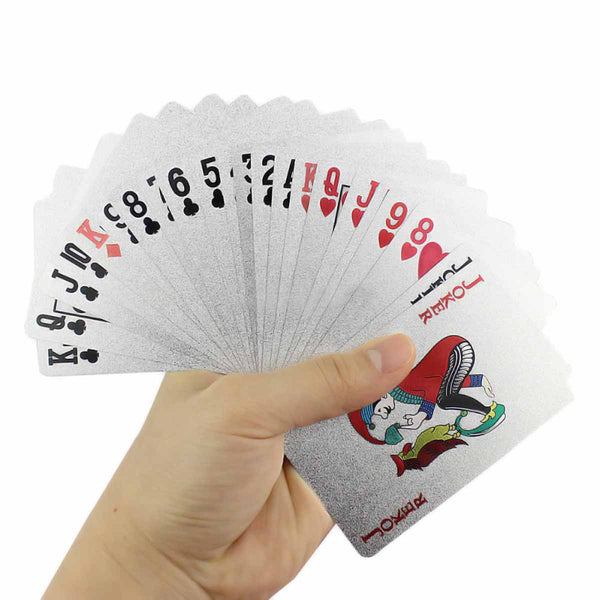 Festive Playing Cards - Silver-PERSONAL-PropShop24.com