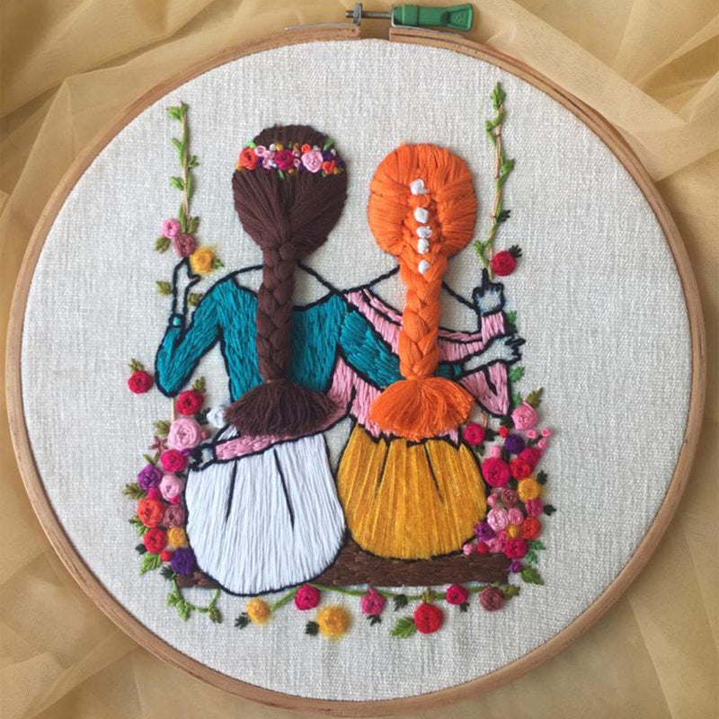 Friends Together Embroidery Hoop-HOME ACCESSORIES-PropShop24.com