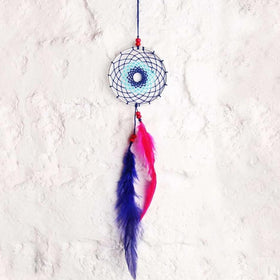 Dreamcatcher Car Hanging - Pink And Blue-HOME-PropShop24.com