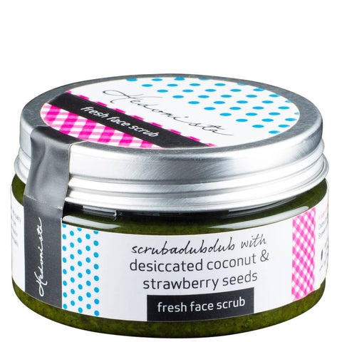 Fresh Face Scrub- With Dessicated Coconut & Strawberry Seeds