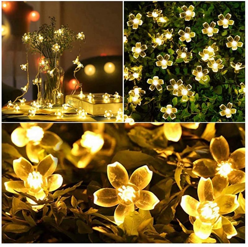 Flower LED String Light - Warm White-HOME ACCESSORIES-PropShop24.com