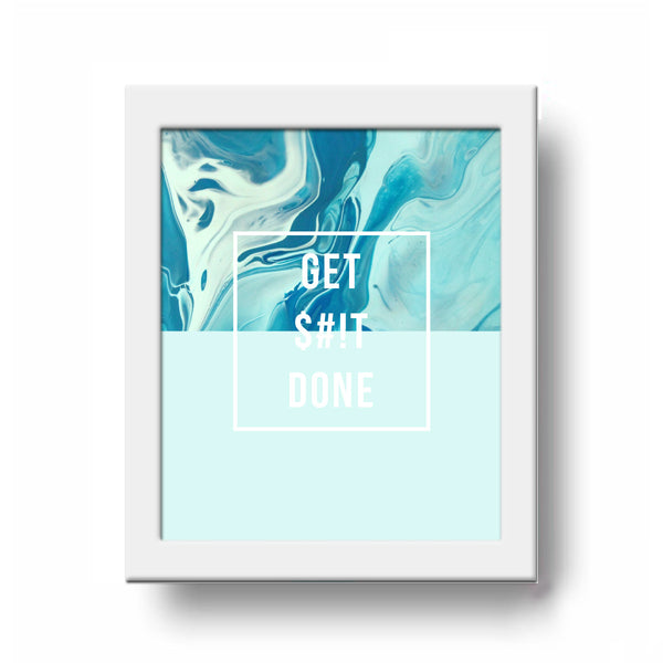 Frame - Marble - Get Shit Done-HOME-PropShop24.com