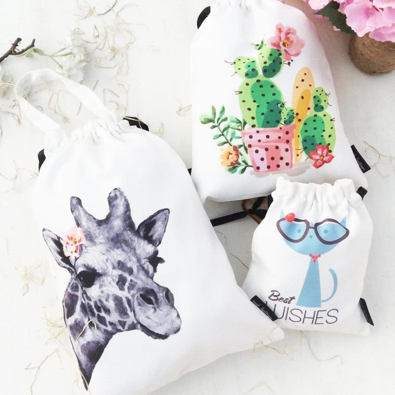 Utility Bags - Giraffe, Cactus, Miss Kitty- Set Of 3-ORGANIZERS-PropShop24.com