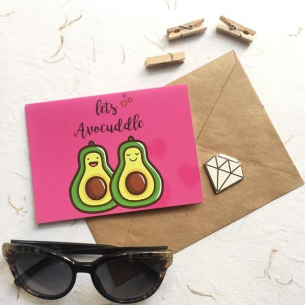 Avocuddle Greeting Card-STATIONERY-PropShop24.com