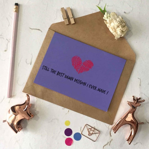 Greeting Card - Best Decision-STATIONERY-PropShop24.com