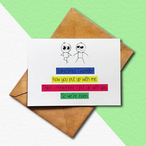 Greeting Card - We Are Even-GREETING CARDS-PropShop24.com
