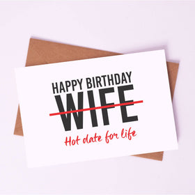 Greeting Card - Happy Birthday, Wifey!-STATIONERY-PropShop24.com