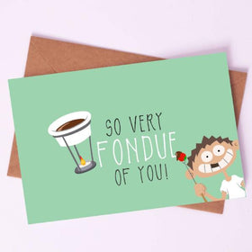 Greeting Card - FONDUE of you!-STATIONERY-PropShop24.com