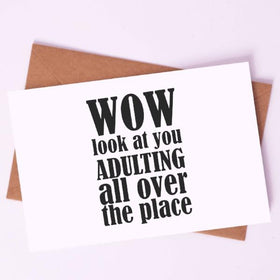 Greeting Card - Adulting and all-STATIONERY-PropShop24.com