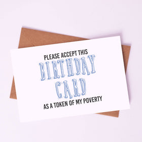 Greeting Card -Token of Poverty-STATIONERY-PropShop24.com