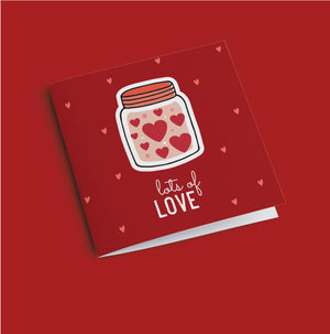 Greeting Card - Lots Of Love-GREETING CARDS-PropShop24.com