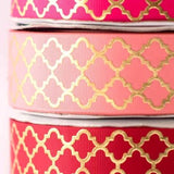Ribbon - Gold Foiled - Coral-Stationery-PropShop24.com