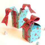 Bow Gift Box - Blue Color with Roses - Set of 3-STATIONERY-PropShop24.com