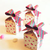 Bow Gift Box - White Color with Lotus - Set of 3-STATIONERY-PropShop24.com