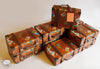 Set Of 10 Brown Travel Suitcase Gift Boxes-DESK ACCESSORIES-PropShop24.com