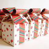 Set of 10 White Bow Gift Boxes-STATIONERY-PropShop24.com