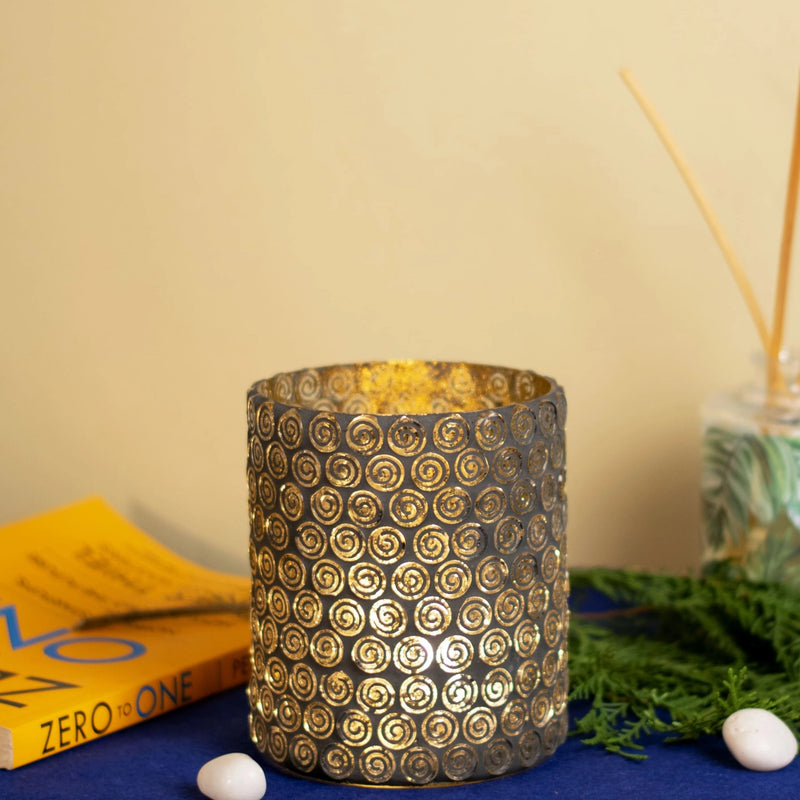 Spiral Mosaic Candle Holder-CANDLES + AROMA-PropShop24.com