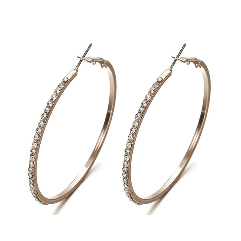 Earrings - Classy Rose Gold Hoop-EARRINGS-PropShop24.com